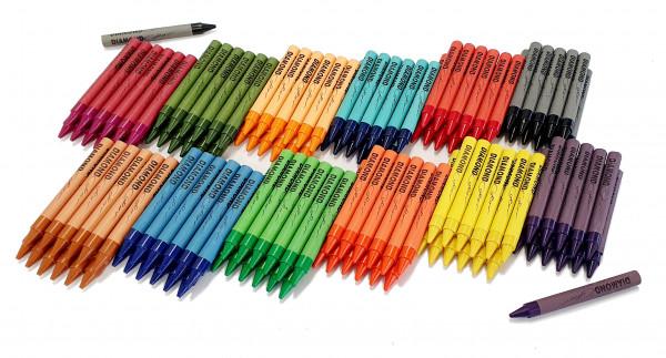 Wachsmalstifte 12 Stück einer Farbe