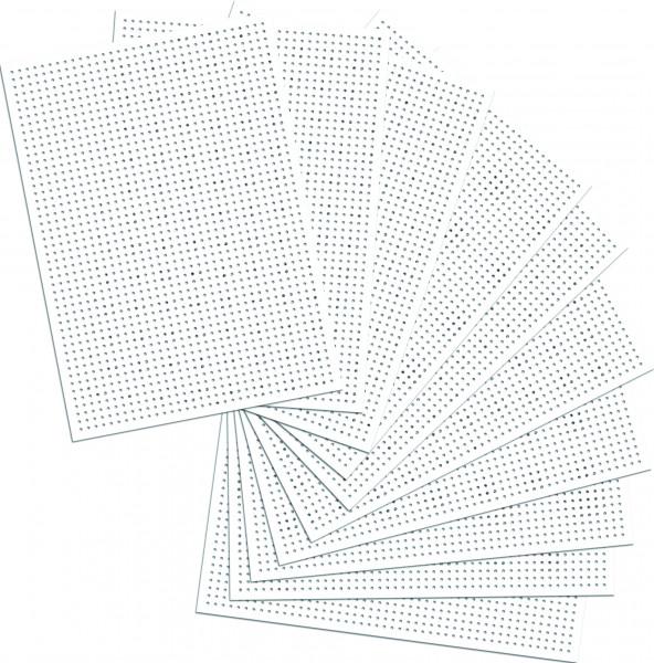 Stickkarton weiß 40 Blatt, unbedruckt