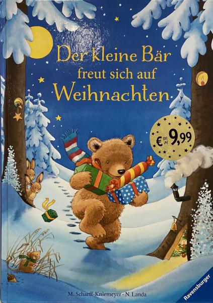 Der kleine Bär freut sich auf Weihnachten