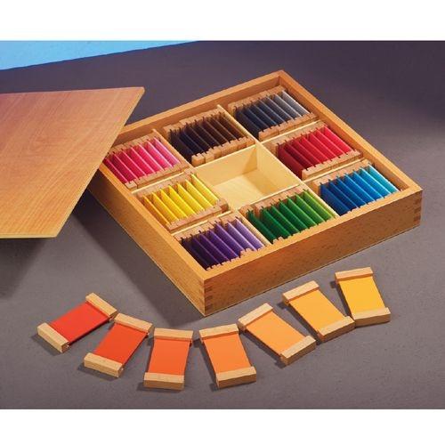 Montessori-Farbtäfelchen
