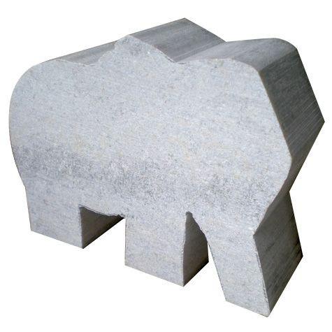 Speckstein-Elefant, braun/grün, 10x5x4cm