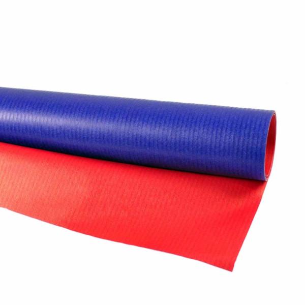 Geschenkpapier blau/rot
