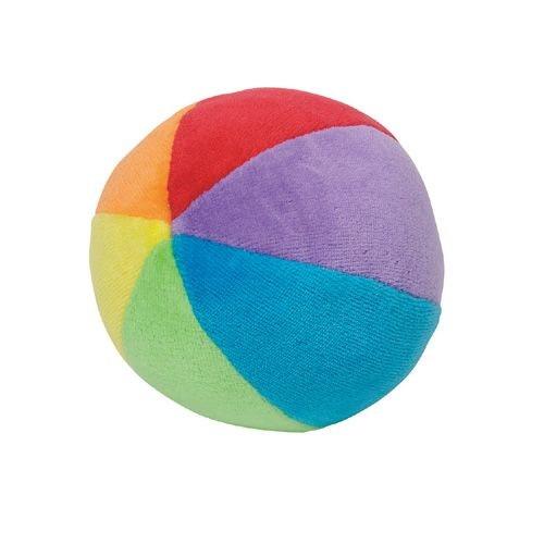 Ball mit Rassel Regenbogenfarben