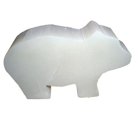 Speckstein-Eisbär weiß 10x 5 x4cm s140