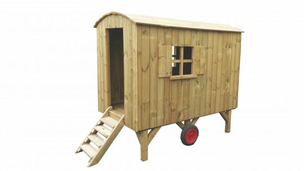 Bauwagen aus Massivholz