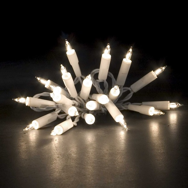 Lichterkette Kabel weiß