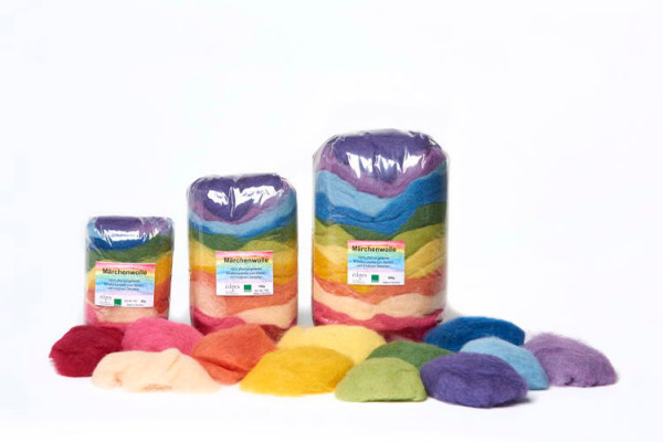Märchenwolle, 12 Farben sortiert