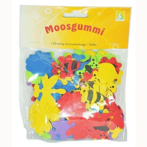Schmetterlinge/Käfer aus Moosgummi