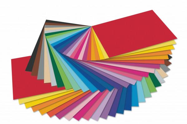 Tonkarton 220 g, 50 x70 cm - 10 Bogen einer Farbe