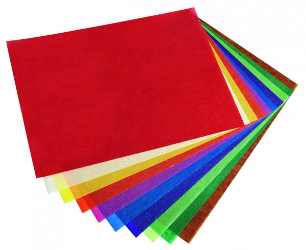 Transparent-Papier 70 x100 cm, 25 Blatt einer Farbe