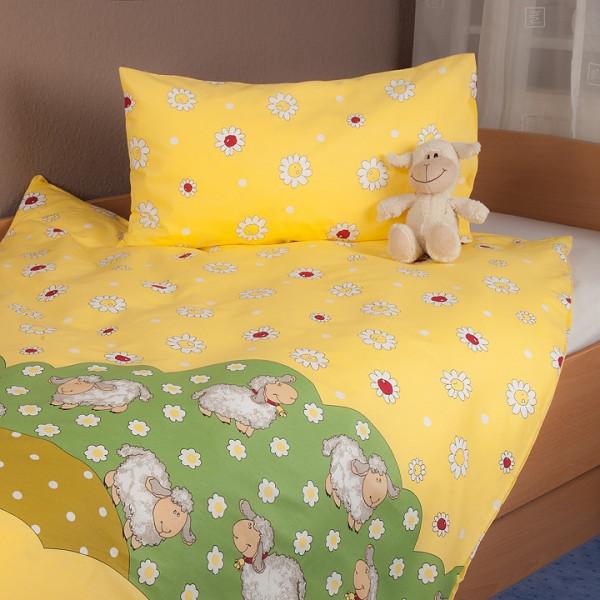 Bettwäsche Schafe gelb
