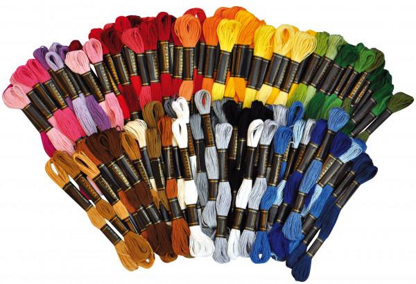 Stickgarn 100 Stück, 42 Farben