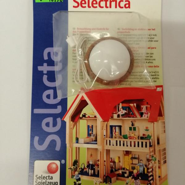 Weisse Deckenlampe für Puppenhaus, elektrisch