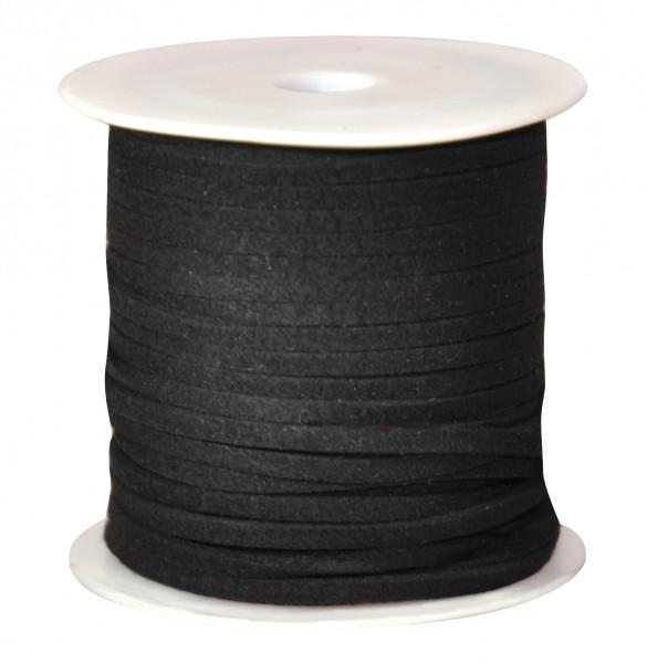 Schmuckband flach, schwarz, 50 m