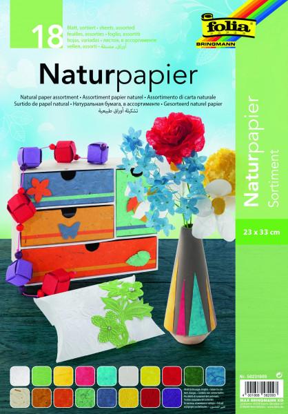 Naturpapier Sortimentspack 23 x 33 cm