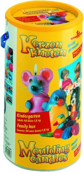 Kindergartenbox Kerzenknete