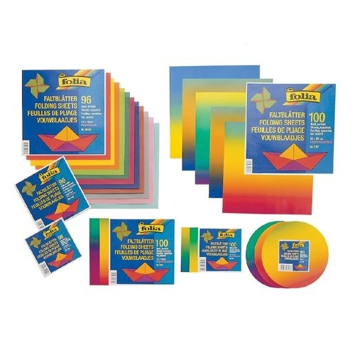 Faltblätter Regenbogen-Buntpapier