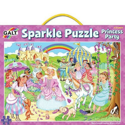 "Glitzer Puzzle ""Prinzessinnen Party"""