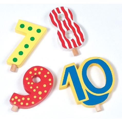 Geburtstagszug-Zahlen