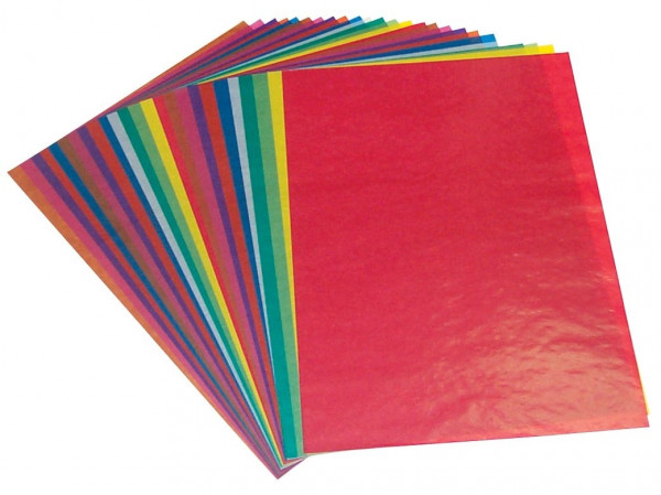 Transparentpapier 35 x 50 cm, 25 Blatt einer Farbe