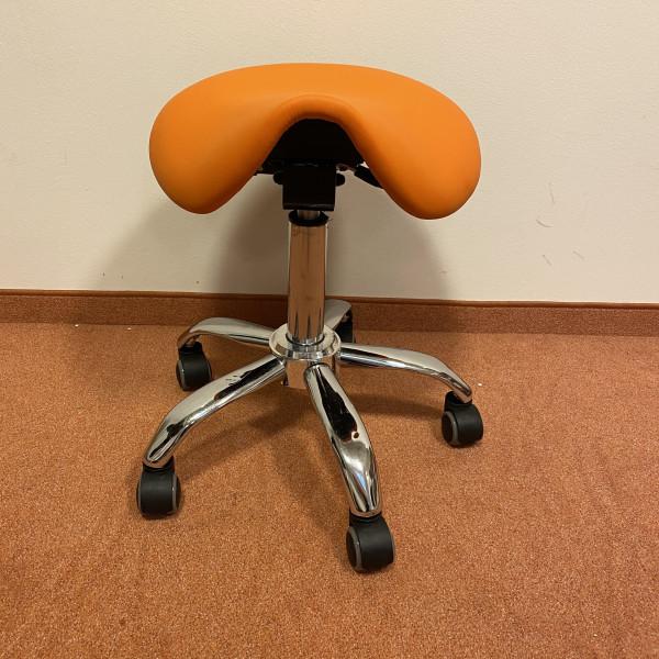 Sanus 2. Wahl Sattelsitz Kunstleder orange, Sitzhöhe ca. 46-60 cm