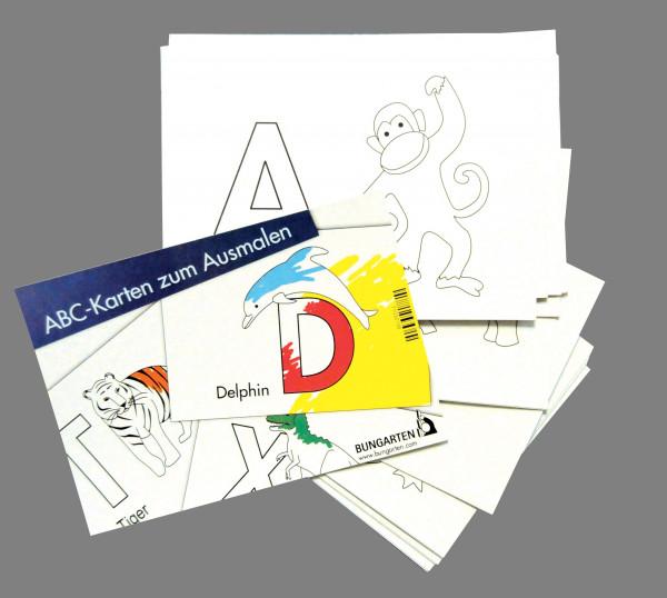 ABC-Karten zum Ausmalen