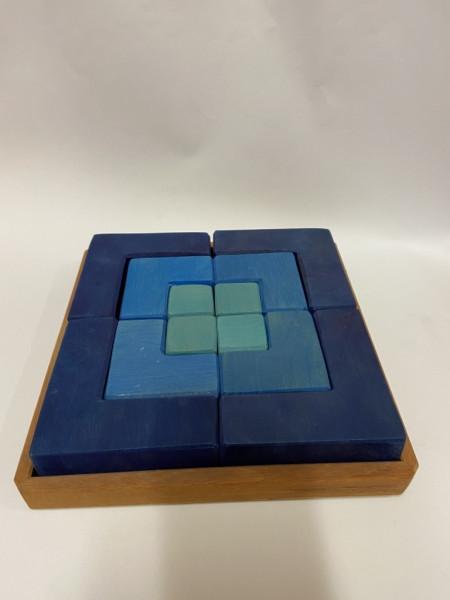 Legespiel Viereck Blau