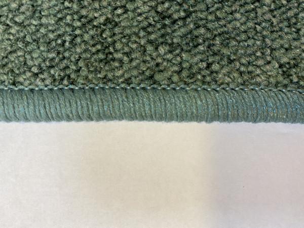 Schlinge-Velours Teppich 2x2m tannengrün