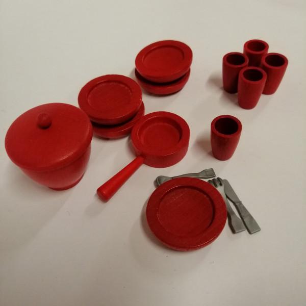 Essgeschirr für Puppenhaus, 32 Teile