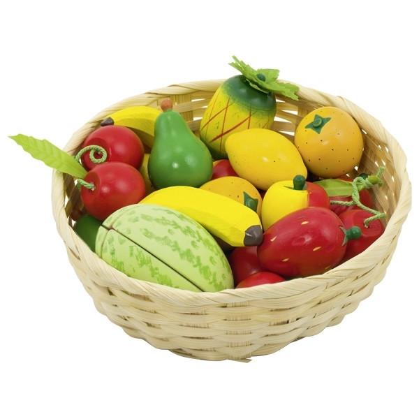 Obst im Korb, 23-teilig