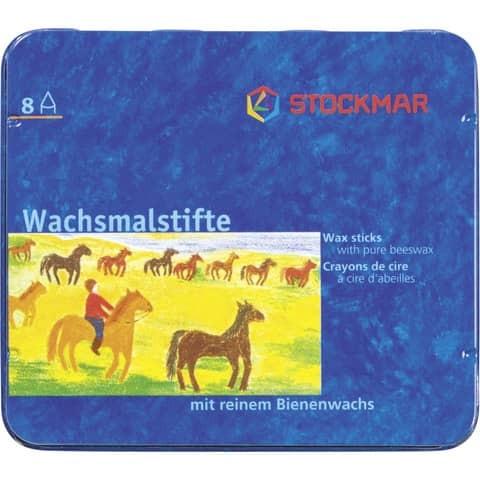 Stockmar - Wachsmalstifte im 8er Blechkasten