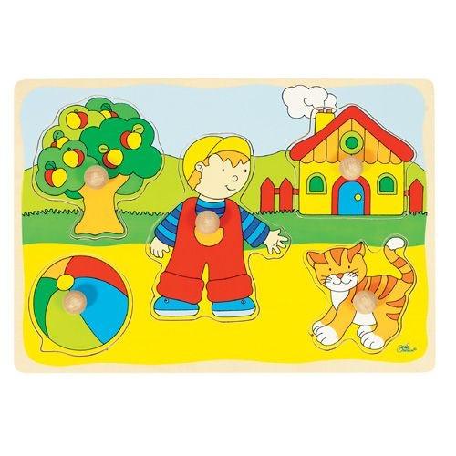 "Steckpuzzle ""Junge, Ball, Katze"""