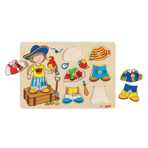 "Steckpuzzle ""Anziehpuppe Pirat"""