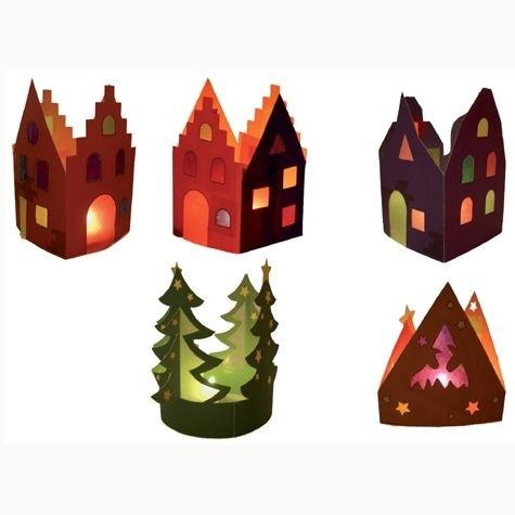 Adventsdorf, Haus und Baum