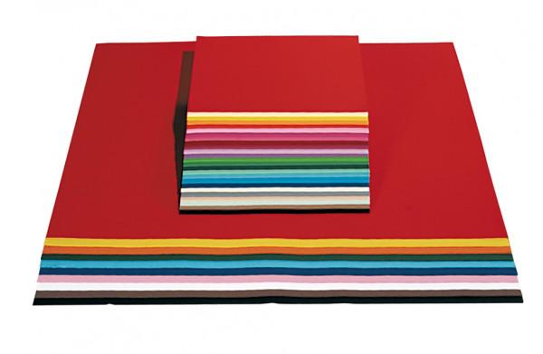 Tonpapier 130 g, DIN A4 - 100 Blatt in 10 Farben