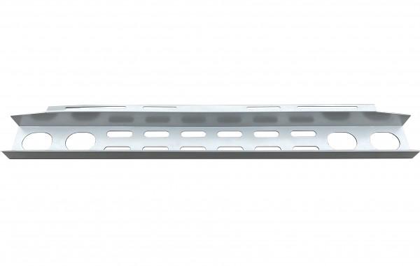 Schreibtisch-Kabelkanal, silber Metall