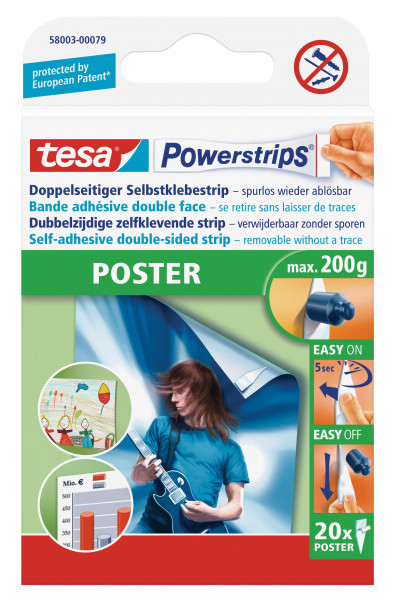 tesa Poster-Strips, 20 St.