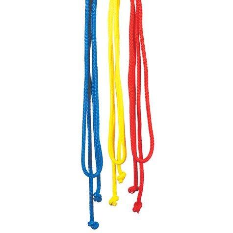 Springseil ohne Griffe rot, blau, gelb