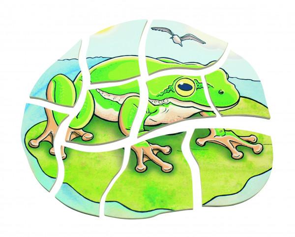Lagen Puzzle Frosch