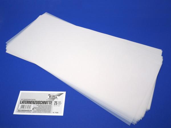 Laternenzuschnitt aus Zeichentransparentpapier