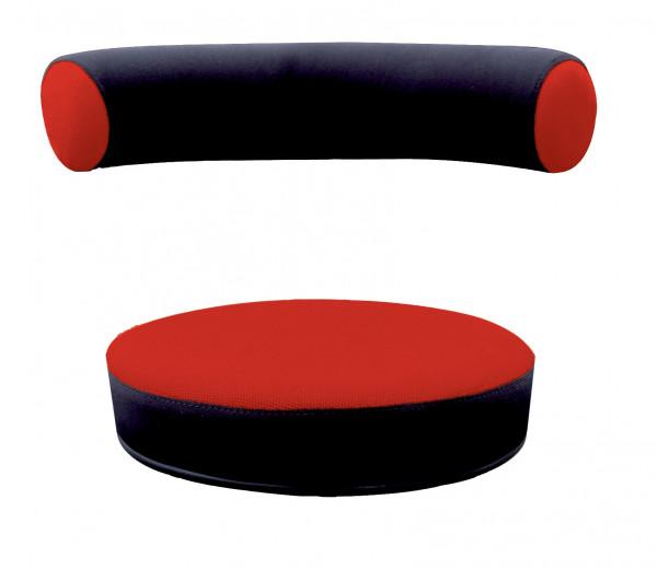 Sanus® Ersatzbezug Stoff rot/schwarz