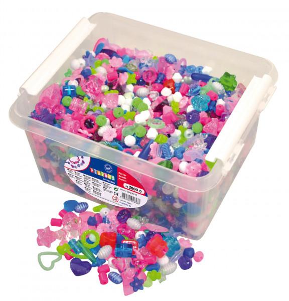 Kunststoff-Perlen in Box