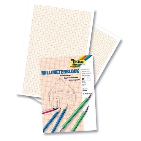 Millimeterpapier - 80 gm² in Blocks
