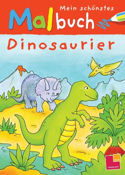 Mein schönstes Malbuch. Dinosaurier