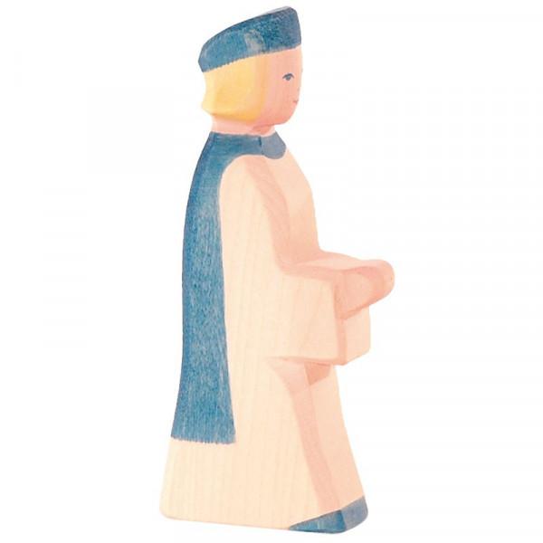 Ostheimer Krippenfigur Sternsinger blau