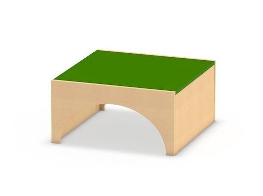 Spielpodest Quadrat groß mit Tunnel
