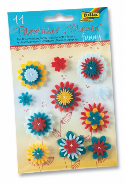 """Filzsticker Blumen """"Funny"""""""