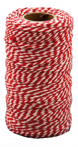 Kordel Baumwollschnur rot/weiß