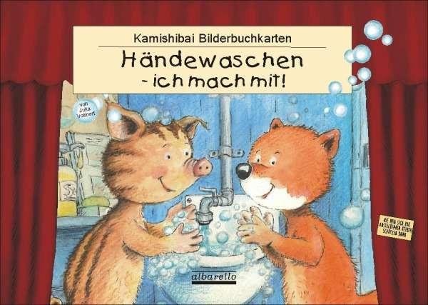 """Kamishibai-Bilderbuchkarten """"Händewaschen - ich mach mit!"""""""