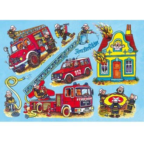 """Fensterbild """"Feuerwehr"""", DIN A 4"""